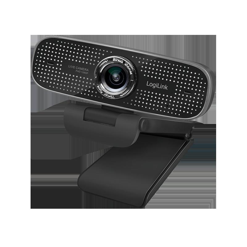 schwarze Webcam mit Halteclip