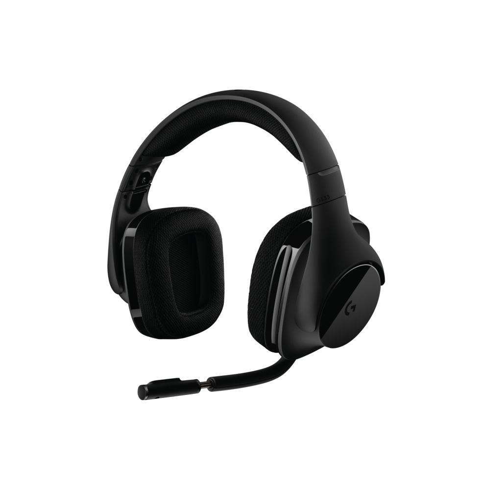schwarzes Headset von Logitech mit Microphone