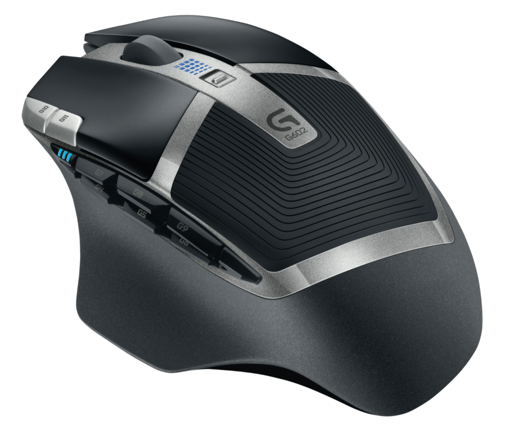 Logitech G602 schwarz silberne Maus